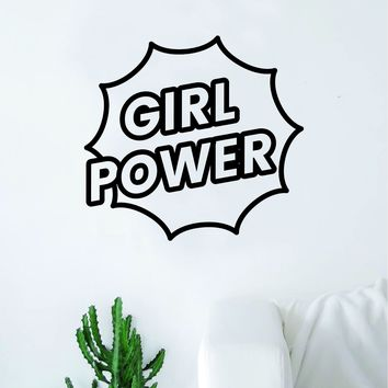 Girl Power V5 Wall Decal Sticker Vinyl Art Bedroom Living Room Decor Decoration Teen Quote Inspirational Motivational Cute Lady Woman Feminism Feminist Empower Grl Pwr Love Strong Beautiful