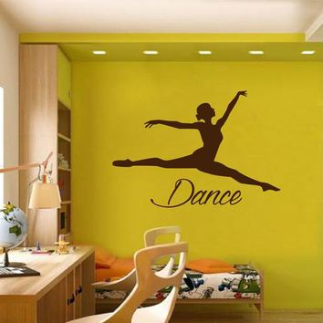 ik2221 Wall Decal Sticker dance dancer girl living room bedroom children's room