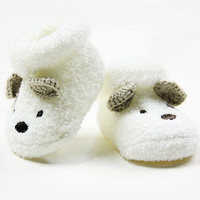 Warm Newborn Socks Unisex Baby Boy Girls Infant Cute Bear Crib Warm Shoes