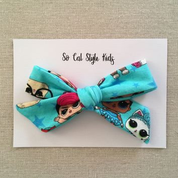Aqua LOL Surprise! Dolls and Pets Tie knot hair bows