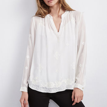 EMMALINE CHIFFON EMBROIDERED