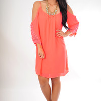 Don't Forget About Us Dress: Neon Coral