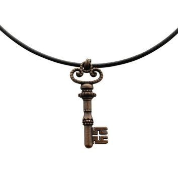Crossbit Heart Necklace ~ Antiqued Copper ~ Key to My Heart Necklace