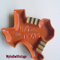 Vintage BIG Like Texas Ceramic Ashtray Made in Japan