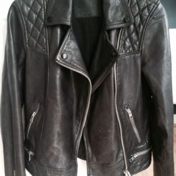 Womens All Saints Conroy Leather Jacket 2015.. This Season