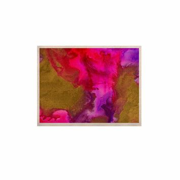 "Claire Day ""Fancy"" Gold Multicolor Painting KESS Naturals Canvas (Frame not Included)"