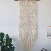 Made to Order: Large modern macrame wall hanging, woven triangle design >>Bespoke designs available <<