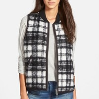 Women's Madewell Reversible Plaid Vest,
