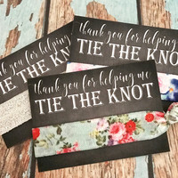 Bridesmaids Gift Hair Ties | Thank you Wedding Shower Favors | Chalkboard