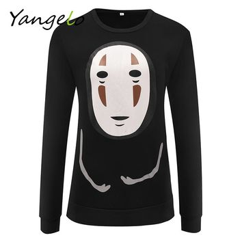 Free Shipping 2017 New Harajuku unisex Hoodies Sweatshirts Punk Pullover Black Japanese Anime Spirited Away