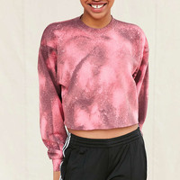 Urban Renewal Recycled Cropped Bleach Cosmic Sweatshirt - Urban Outfitters