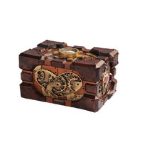 Steampunk Pressure Gauge Box Heart Gearwork Jewelry Trinket Keepsake Resin 7.5L