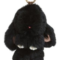 Natasha Couture Genuine Rabbit Fur Bag Charm | Nordstrom
