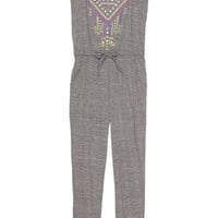 W Girl Racerback Embroidered Jumpsuit (Little Girls & Big Girls)