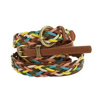 LuLu Juniors 2-Piece Braided Belt Set at Dry Goods
