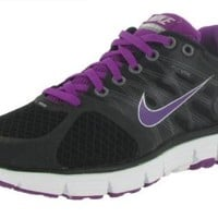 Nike Lunarglide+ 2 Womens Running Shoes Black/Red Plum-Flint Summit White-Cool Grey 407647-001-7.5