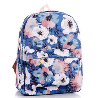 ONETOW Day-First? Floral Painting Canvas Lightweight Backpack