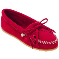 Minnetonka Kilty Suede Moc 406 Red Red Moccasin