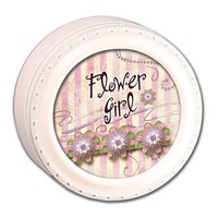 Flower Girl Round Ivory Keepsake Box