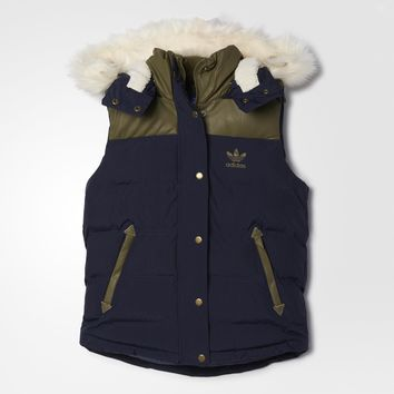 adidas Fabric Mix Vest - Blue | adidas US