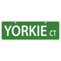 Yorkie Court Plastic Street Sign