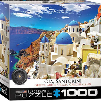 Oia Santorini Greece - 1000 Piece Jigsaw Puzzle