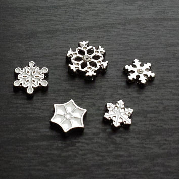 Snowflake Floating Charm for Floating Lockets-Winter Theme-Christmas-Gift Ideas
