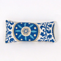 Blue Suzani Indoor Outdoor Pillow