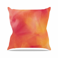 "Malia Shields ""Unconditional Love"" Orange Pink Throw Pillow"