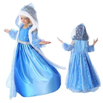 New Girls Party Dresses Kids Winter Princess Dresses for Girls Cinderella Rapunzel Aurora Belle Cosplay Costume Wedding Dresses