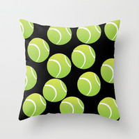 TENNIS BALLS  Throw Pillow by Robleedesigns