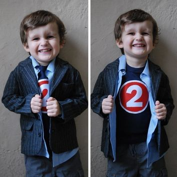 Superhero Birthday Shirt Boys Tshirt for Cape or Birthday Party pow bang zoom 2 year old 2nd Birthday two navy blue and red long sleeve cake