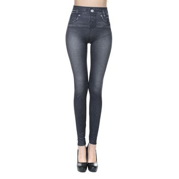 New Sexy Women Jeans Skinny Jeggings Stretchy Slim Leggings Skinny Pants Body-hugging imitation cowboy leggings