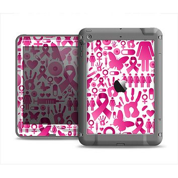 The Pink Collage Breast Cancer Awareness Apple iPad Mini LifeProof Nuud Case Skin Set