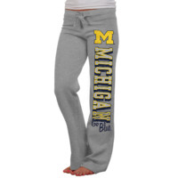 Michigan Wolverines Women's Frosh Fleece Sweatpants - Ash