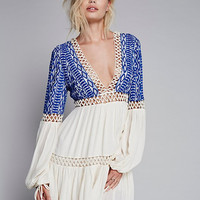 Spring Winter Women Sexy Free Style People Embroidery Hollow Out Bohemian Dress
