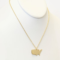 Gold USA Necklace