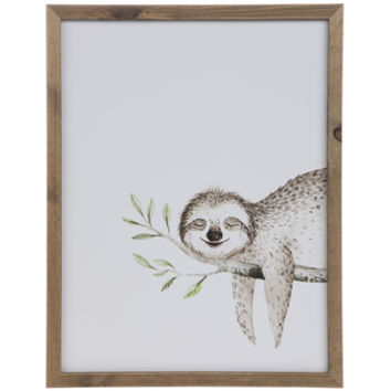 Sloth Wood Wall Decor | Hobby Lobby | 1796861