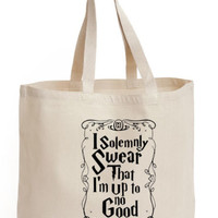 I solemnly swear that i'm up to no good Cotton Tote ECO canvas harry potter Bag | eBay