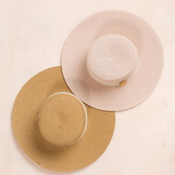 Ava Button Straw Hat