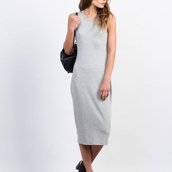 Midi Tank Twist Back Dress