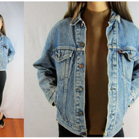 Levi's Jacket 80s blue jean PADDED lined medium M