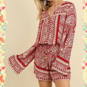 Red's the Rage Romper