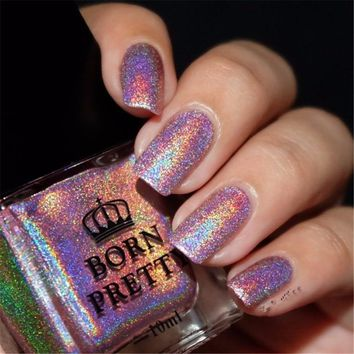 BORN PRETTY 10ml Holo Polish Holographic Glitter Nail Polish Hologram Effect Nail Varnish Nail Lacquer