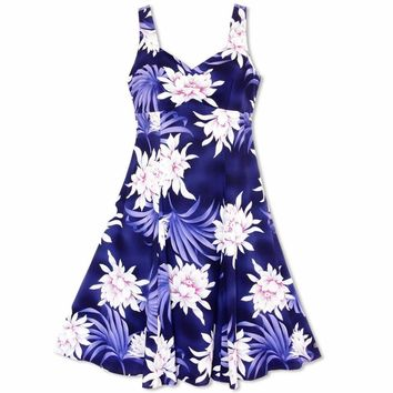 Manoa Cereus Purple Molokini Hawaiian Dress