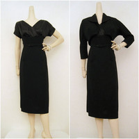 60s Dress Suit Vintage Cocktail Wiggle Dress and by voguevintage
