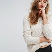 Boss Orange By Hugo Boss Icelynne Cable Knit Sweater at asos.com