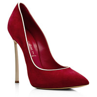 Casadei Orchid Red Suede Court   Harrods