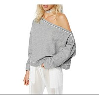 Off The Shoulder Sweat Shirt
