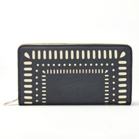Cut It Out Wallet in Black